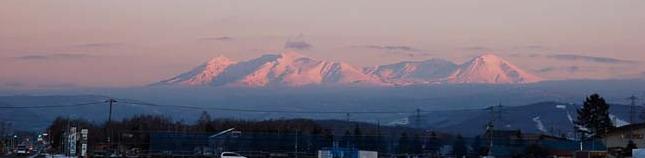 夕映え大雪山